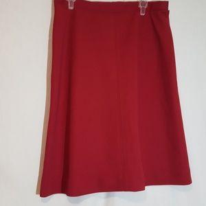 Vintage red A-line skirt